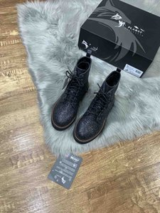 Shoes Women's boots stitching keep warm and fashion feet new designers shoes women boots Black sequins