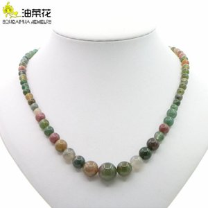 High Quality Natural Gemstones Head Agates 6-14mm Beaded Necklace Woman Girl Jewelry Christmas Yoga Gift Wholesale Price