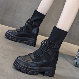 Winter 2020 new leather Martin boots British style short thick bottom fashion boots