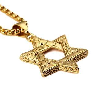 Hébreu Shema en étoile de David Collier Chaîne Messianique JE Intérêt 201218