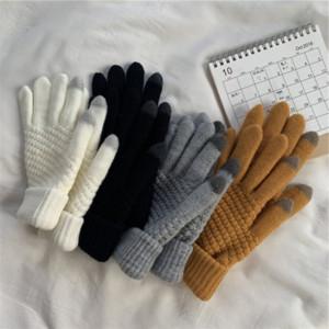 SF4TZ INS inverno touch screen touch screen studente per maglieria in lana addensata peluche e guanti guanti a guanti solidi versatili dito split finge finge finge