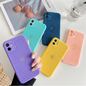 Hollow Case For iPhone 12 11 mini Pro Max TPU Silicone Mobile Phone Case Cover Colorful Airbag Shock Proof Ultra Thin For iPhone