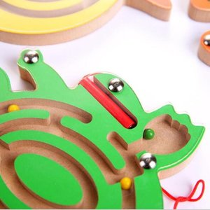 Children Wooden Animal Track Beads Magnetic Pens Moving Maze Toy Kids Intelligence Puzzle Game Baby Early Educational Toy Yjn jlllrz