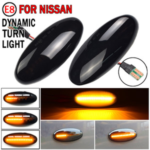 For Nissan Navara D22 NP300 1998-05 Datsun Frontier Fiera PickUp Terrano Skystar LED Dynamic Turn Signal Light Side Marker Lamp