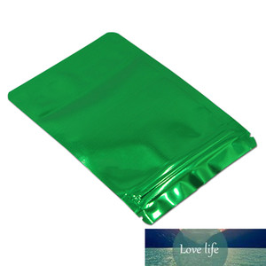 1000Pcs Smooth Green Aluminum Foil Stand Up Package Bag Heat Sealable=Tear Notch Pouches