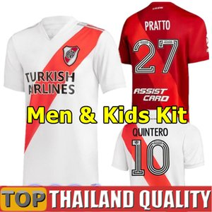 2020 2021 River Plate maillots de foot 20 21 DE LA CRUZ QUINTERO BORRE FERNANDEZ PRATTO River Plate PONZIO Maillot de foot Hommes Kit enfants uniforme