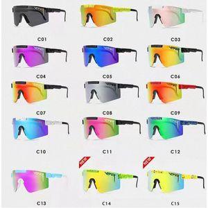 Pit Viper Flat Top Sunglasses TR90 Frame Mirrored Lens Windproof Sport Men Woman Polarized Sun Glasses YUN.UX