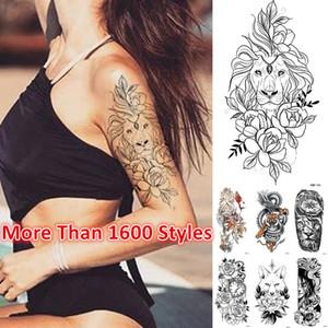 O mais novo! 1800 estilos meia manga tatuagem adesivo braço tatuagens temporárias halloween adesivo à prova d 'água aceitar tatuagem personalizada sticke