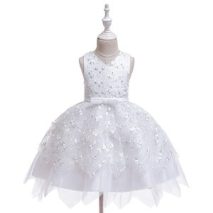 0-5y Princess Newborn Toddler Baby Kid Girls Dress Lace Bow Tulle Tutu Party Wedding 1st Birthday Dresses For Girls sqcyyZ