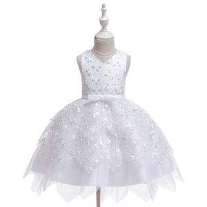 0-5y Princess Newborn Toddler Baby Kid Girls Dress Lace Bow Tulle Tutu Party Wedding 1st Birthday Dresses For Girls sqcyyZ