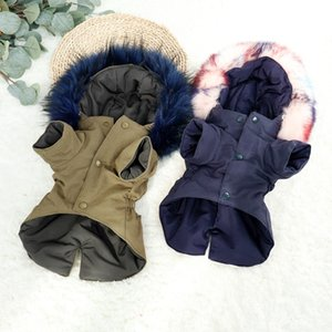 Warm Winter Dog Clothes Luxury Fur Dog Coat Hoodies for Small Medium Dog Windproof Pet Clothing Fleece Lined Puppy Jacket