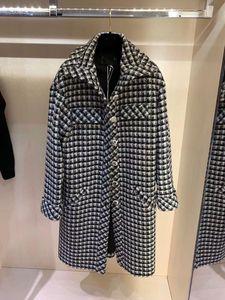 2020 Milan Runway Trench Coats Revers Hals Langarm Marke Gleiche Stil Trenchcoats Frauen Designer Mäntel 1015-18