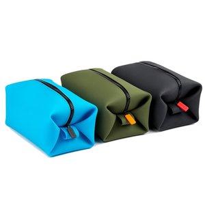 Nuevo bolsas de lavado de bolsas de silicona de silicona a prueba de agua Secado rápido Multifunción Multifunción Maquillaje Portátil ultraligero Bolso de aseo