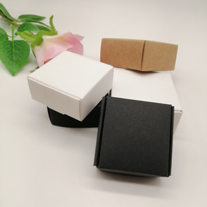10pcs Black White Kraft Paper Box for Packaging Earring Jewlery Box Gift Cardboard Boxes Diy Jewelry Display Storage Packing Box