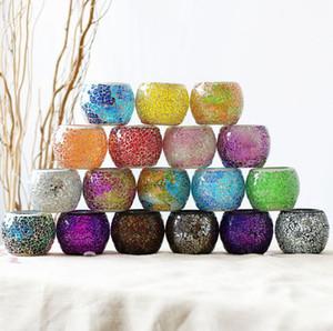 Kerzenhalter-Mittelstück Mosaikglas Teelichthalter für Wohnkultur Tabelle Weihnachtsfeier-Dekorationen Kerze Lanter KKA8307