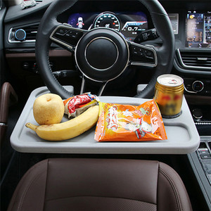 Car Laptop Stand Notebook Desk Dining Table Clip Auto Steering Wheel Tray Drink Holder Desk Table Steering Wheel Desk