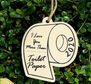 Christmas Decorations Commemorative Toilet Paper Ornament 2020 Great Toilet Paper Shortage Hanging Ornament SN3500
