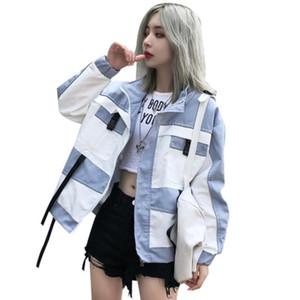 2020 Gevşek Ceket Kadın Sonbahar Eğlence Ceket Harajuku Casaco Feminino Streetwear Yocalor Riverdale Palto ve Ceketler Kadınlar