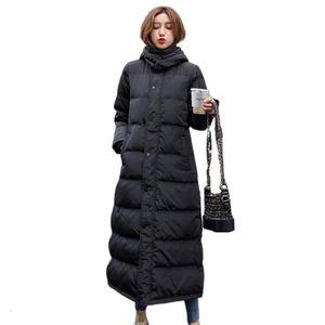 Long Jacket Women Over Knee White Duck Down Plus Size Chamarras De Mujer Manteau Femme Hiver Vintage Oversize Winter Coat