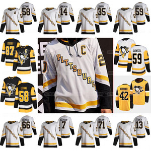87 Sidney Crosby Pittsburgh Penguins 2021 Reverse Retro Jersey Jake Guentzel Kris Letang Kapanen Tristan Jarry Malkin Varone Tanev