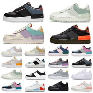 nike air force 1 one air forces shoes Split Skeleton Utility Preto Dunk Branco 1 Sapatas Casuais Skeleton Obsidian Das Mulheres Dos Homens de Skate-Packing Low-Cut sports Sneakers