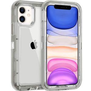 Per iPhone 11 Pro Max XR XS XS X 6S 7 8 PLUS Half Clear Red Purple Grey Transparent ARMORUR ARMORR ARMORR ARMORRUST Custodia per cellulare lucido