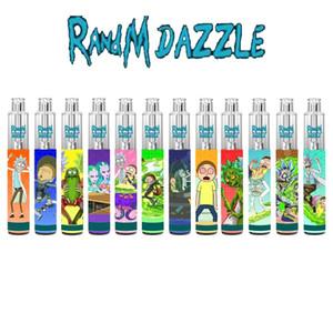 R e M Dazzle Vape Descartável Com RGB Light 2000+ Vape Pré-preenchido 6ml Cartucho POD Puff Vape Pen 8 Sabores