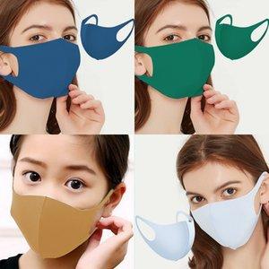 Yüz Pamuklu Yıkanabilir FaseMask Siyah Kullanımlık Nefes Yetişkin Moda Maskeleri Kayak Koruyun01