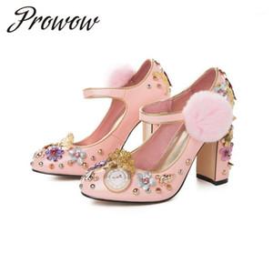 Prowow 2020 Yeni Moda Kadın Ayakkabıları Elmas Rivets1