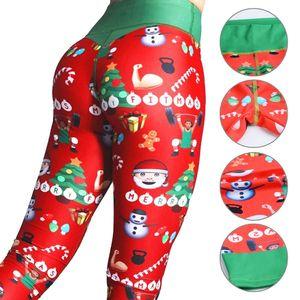 8%Spandex High Waist Leggings Plus Size Trousers Warm Workout Yoga Pants Sport Women Fitness Christmas Leggings
