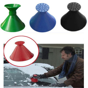 Magical Car Windshield Ice Snow Remover Scraper Tool Cone Shaped Round Funnel Cleaning Brushes Christmas Gifts Free DHL ship GWD3317