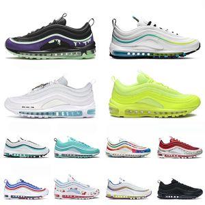 Hot selling 2021 Slime 97s Og Sapatos de corrida em todo o mundo Triple White Volt Mulheres Mens MSCHF INRI JESUS TREINERS STAR SHOWERS 36-45