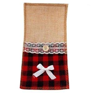 Bmby-30 unids yute arpillera de encaje cuberteras bolsa de boda tenedor y cuchillo bolsa de almacenamiento vajilla decoración de la fiesta suministros navidad mesa1