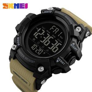 SKMEI Herren Sportuhr Mode Digital Herren Uhren Wasserdichte Countdown Dual Time Shock Armbanduhren Relogio Masculino 201125