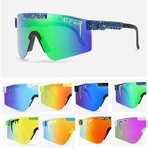 2020 NOUVEAU Viper Viper Sunese Cadre TR90 Polarisée Luxe Sunglasses Lentilles Lentilles Femmes Tillante Top Flat UV400 Openair Conçu Goggles PV chaud