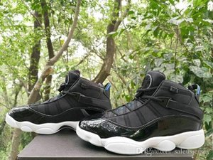 2018 new VI 6 Rings Black Hyper Royal-White Men Basketball Shoes high quality 6s Space Jams mens sprots Fashion Sneakers