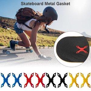 2 шт. Алюминиевые прокладки сплава для скейтборда Лонгбордные колоды прокладки защитные алюминиевые сплава аппаратные детали1