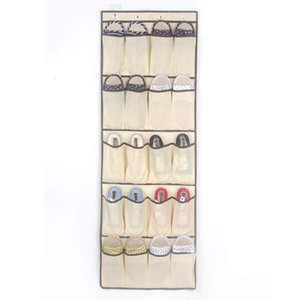 20 Pockets Non Woven Hanging Storage Bags Door Holder Home Shoes Organizing Bag with Hook Space Saver Organizer SEA SHIPPING GWF3339