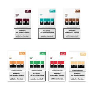 Neues Paket Vape Stift Cool Mint Mango Pod Patrone Kompatibel leerer nachfüllbarer Vgod-Stig-Pod-Patrone für Jull-Gerät 8 Farben mit Logo