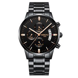 Best Selling Top Orologio Masculino Men Relógios Famoso Top Marca Moda Masculina Casual Vestido Assista Nibosi Militar Quartz relógios de pulso SAAT