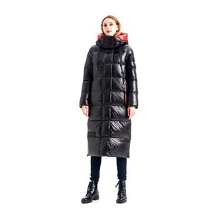 HADAVOE Hot Coat Jacket Winter Women's Hooded Warm Parkas Hight Quality Female New Winter Collection Fashionable warm coat 201125