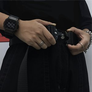 system Instudios. Yamamoto dark tactical function metal buckle belt Fashion
