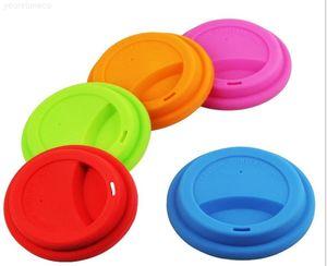 Tapa creativa 9cm taza de silicona de grado alimenticio reutilizable taza de café taza de tapa de tapa anti-polvo de sello hermético para 12 oz / 16oz tazas
