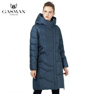 Gasman 2020 inverno nero Jas Plus Size Fashion Parka Parka Hooded Caldo Giacche Soprabito Donne Long Puffer Donsjack 19022
