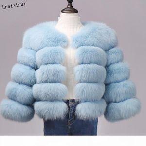 Winter Jacket Women Big Fluffy Artificial Fur Coat Fake Raccoon Fur Thick Warm Outerwear Streetwear No Removable Vesto