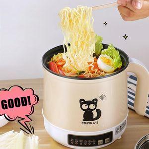 110 V Multifunzionale fornello elettrico tagliatelle zuppa di zuppa di cottura w / a vapore netto singolo / doppio strato multicookers frittura di riso