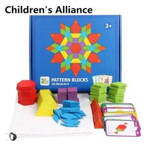 155 шт. Креативные головоломки Детские деревянные игрушки для детей головоломки детей раннее обучение развивающие игрушки Montessori 201218