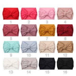 INS 2020 double-deck hair bows baby headbands soft newborn headbands girls headband kids head bands baby girl hair accessories B2830