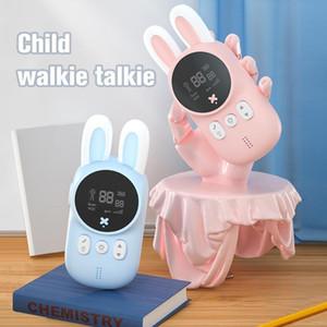 Mini Walkie Talkie Kids Toy Walkie Walkie Child Téléphone Handheld Deux ans Radio 1-3km Camping Wireless Intercom Enfants Cadeaux