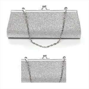 Hot Women Glitter Clutch Purse Evening Party Wedding Banquet Handbag Shoulder Bag Drop Shipping Good Quality